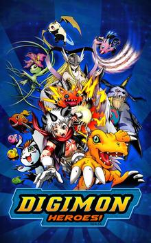 Capa do jogo Digimon Heroes