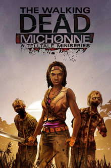 Box art for the game The Walking Dead: Michonne