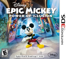 Box art for the game Disney Epic Mickey: The Power of Illusion