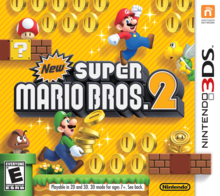 Box art for the game New Super Mario Bros. 2