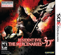 Box art for the game Resident Evil: The Mercenaries 3D