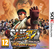 Capa do jogo Super Street Fighter IV 3D Edition