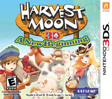 Box art for the game Harvest Moon: A New Beginning