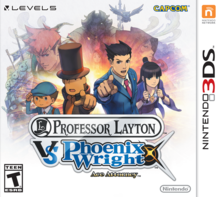 Box art for the game Professor Layton vs. Phoenix Wright Ace Attorney
