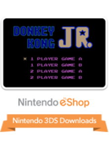 Box art for the game Donkey Kong Jr.