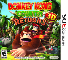 Box art for the game Donkey Kong Country Returns 3D