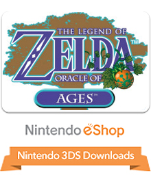 Box art for the game The Legend of Zelda: Oracle of Ages