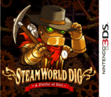 Box art for the game SteamWorld Dig