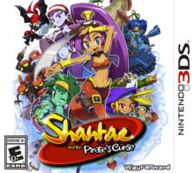 Capa do jogo Shantae and the Pirate's Curse