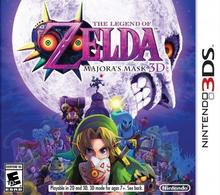 Box art for the game The Legend Of Zelda Majora's Mask 3D