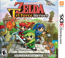 Box art for the game The Legend of Zelda: Tri Force Heroes