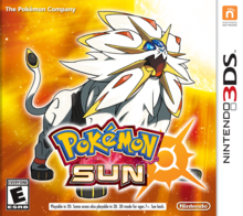 Box art for the game Pokémon Sun