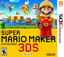 Box art for the game Super Mario Maker for Nintendo 3DS