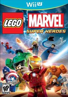 Box art for the game LEGO Marvel Super Heroes