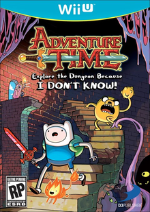 Box art for the game Adventure Time: Explore the Dungeon Because I DON'T KNOW!