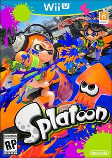 Box art for the game Splatoon