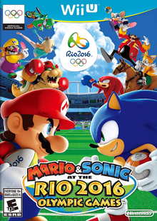 Box art for the game Mario & Sonic at the Rio 2016 Olympic Games
