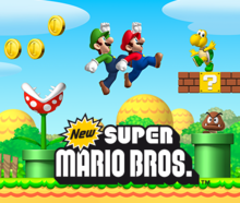 Box art for the game New Super Mario Bros.