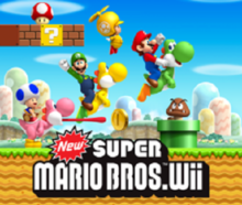 Box art for the game New Super Mario Bros. Wii