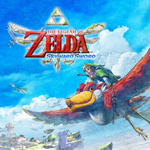 Box art for the game  The Legend of Zelda: Skyward Sword