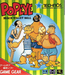 Box art for the game  Popeye Beach Volleyball