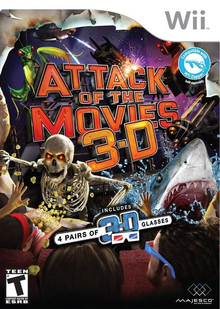 Box art for the game Attack of the Movies 3D