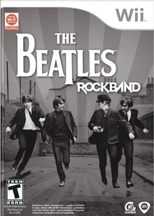 Box art for the game The Beatles: Rock Band