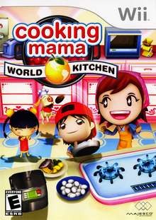 Box art for the game Cooking Mama: World Kitchen