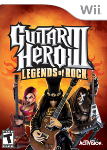 Capa do jogo Guitar Hero III: Legends of Rock