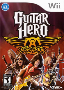 Box art for the game Guitar Hero: Aerosmith