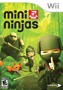 Box art for the game Mini Ninjas