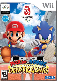 Box art for the game Mario & Sonic At The Olympic Games