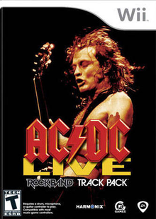 Box art for the game AC/DC Live: Rock Band Track Pack