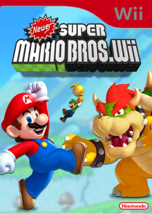 Box art for the game Newer Super Mario Bros. Wii