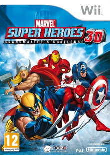 Box art for the game Marvel Super Heroes 3D: Grandmaster's Challenge