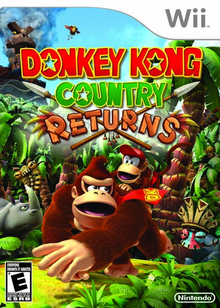 Box art for the game Donkey Kong Country Returns