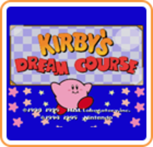Box art for the game Kirby's Dream Course