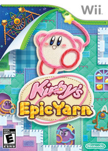 Box art for the game Kirby's Epic Yarn
