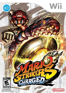Box art for the game Mario Strikers Charged