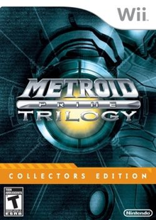 Box art for the game Metroid Prime Trilogy