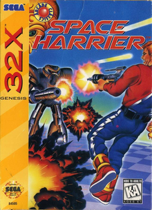 Box art for the game Space Harrier