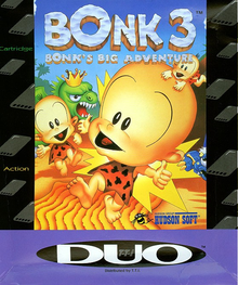 Box art for the game Bonk 3: Bonk's Big Adventure