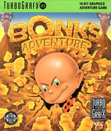 Box art for the game Bonk's Adventure