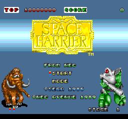 Space Harrier TurboGrafx-16