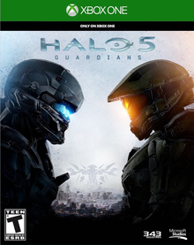 Box art for the game Halo 5: Guardians