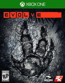 Box art for the game Evolve