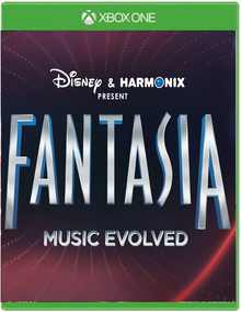 "Box art for the game ""Fantasia: Music Evolved"""