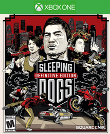 Box art for the game Sleeping Dogs. Definitive Edition