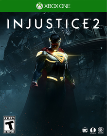 Box art for the game Injustice 2