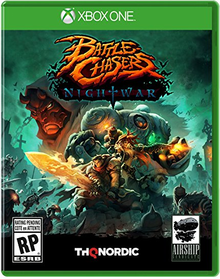 Box art for the game Battle Chasers: Nightwar